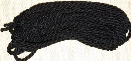 black dyed hemp