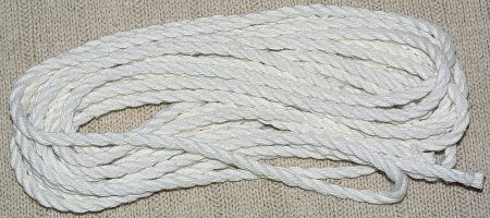 white dyed hemp
